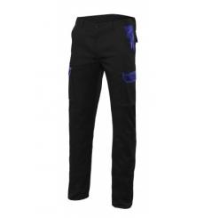 Pantalon stretch bicolor multibolsillos