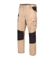 Pantalón canvas bicolor multibolsillos